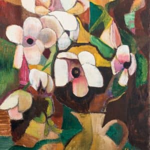 Blumen in gelber Vase  | 1928