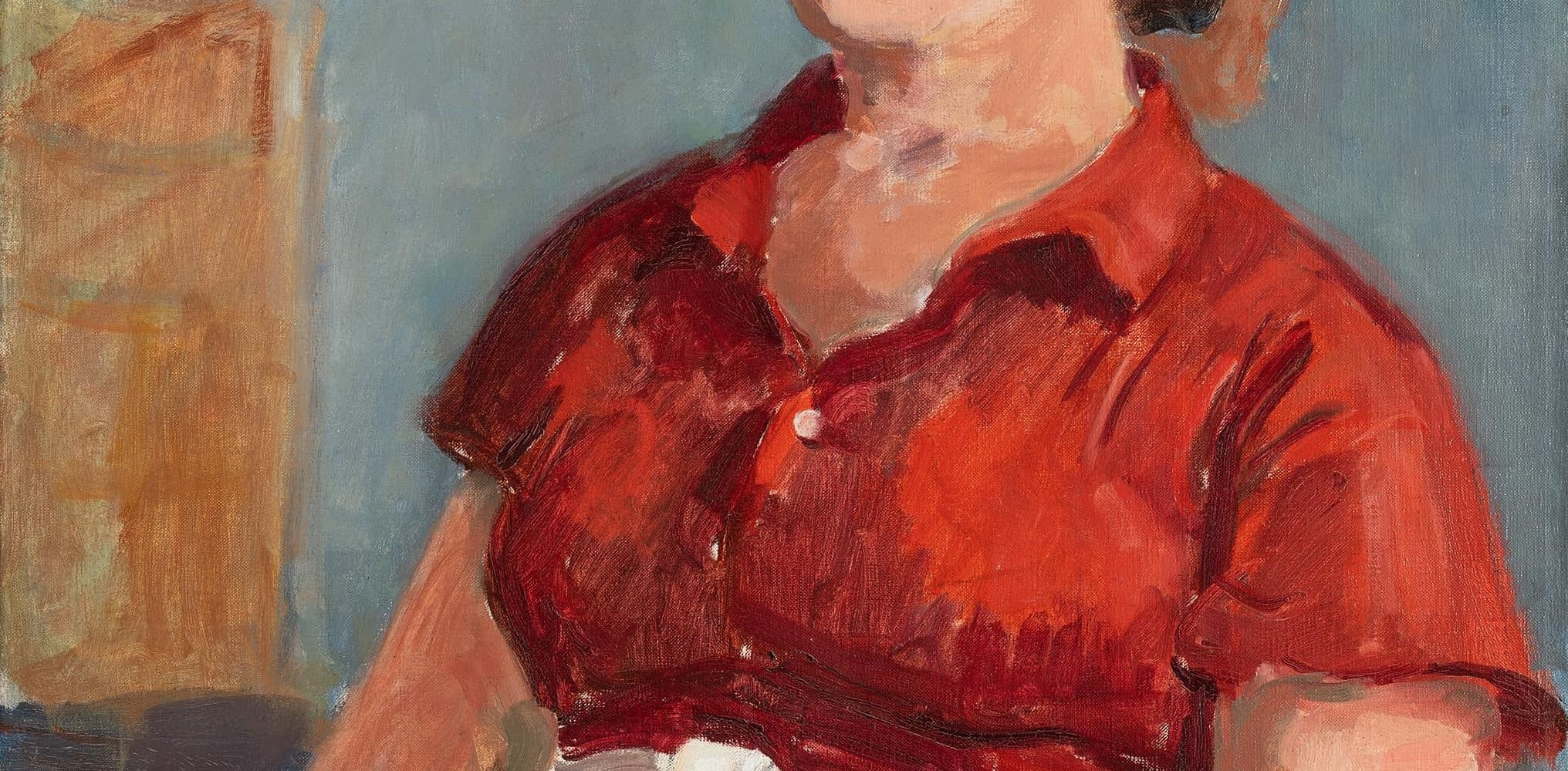 Junge Frau in roter Bluse | o. D.