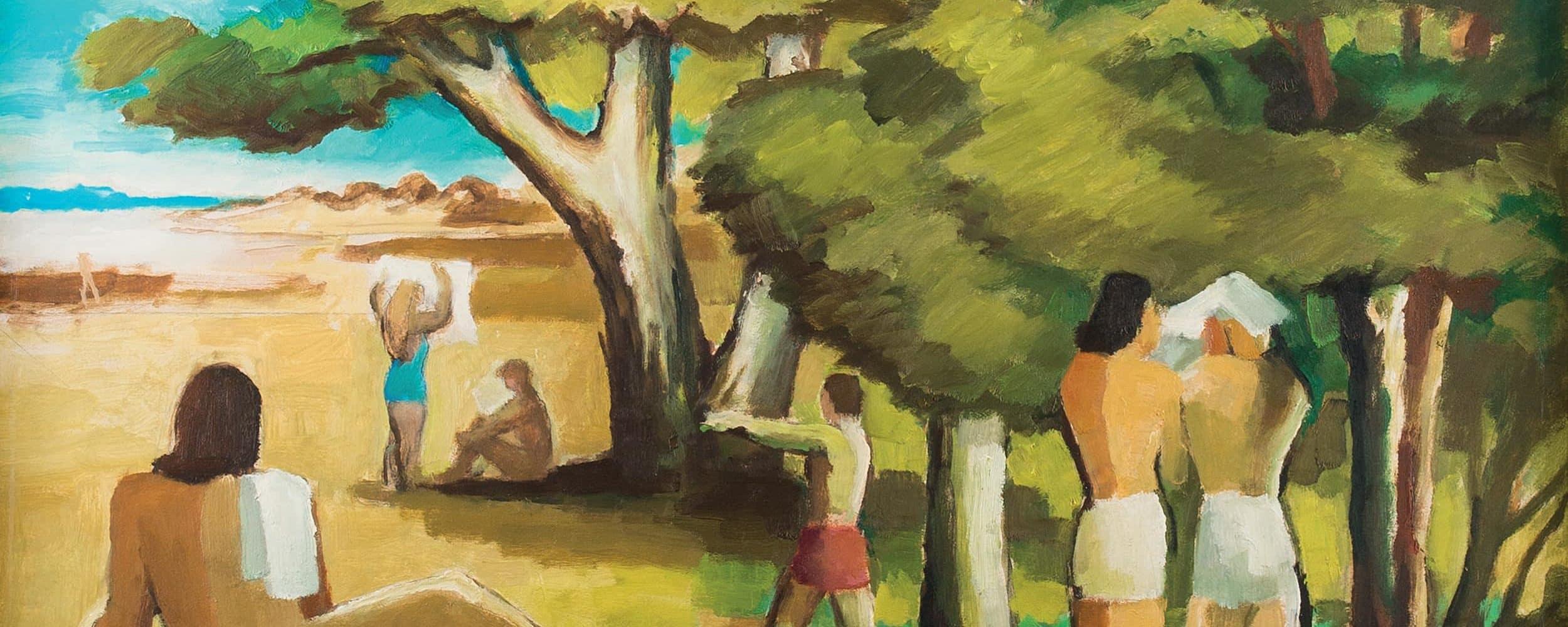 Kleine Landschaft mit Badenden | um 1945–1956