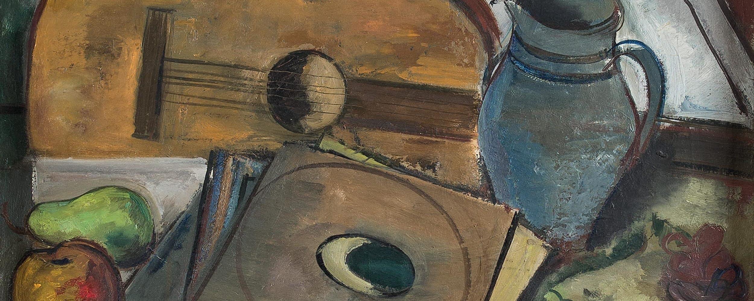 Stillleben mit Gitarre und provenzalischem Tuch  | 1926/30