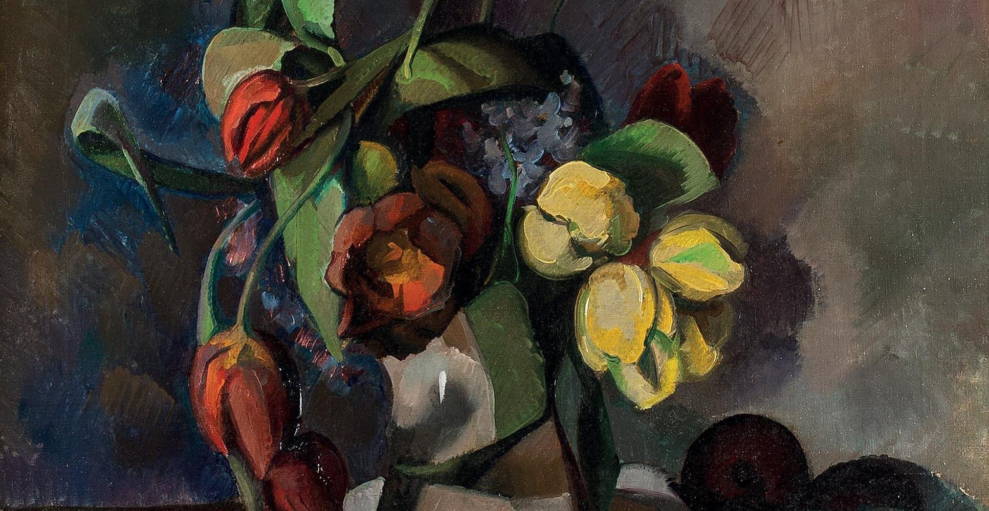 Stillleben mit Tulpen und Obst | 1920
