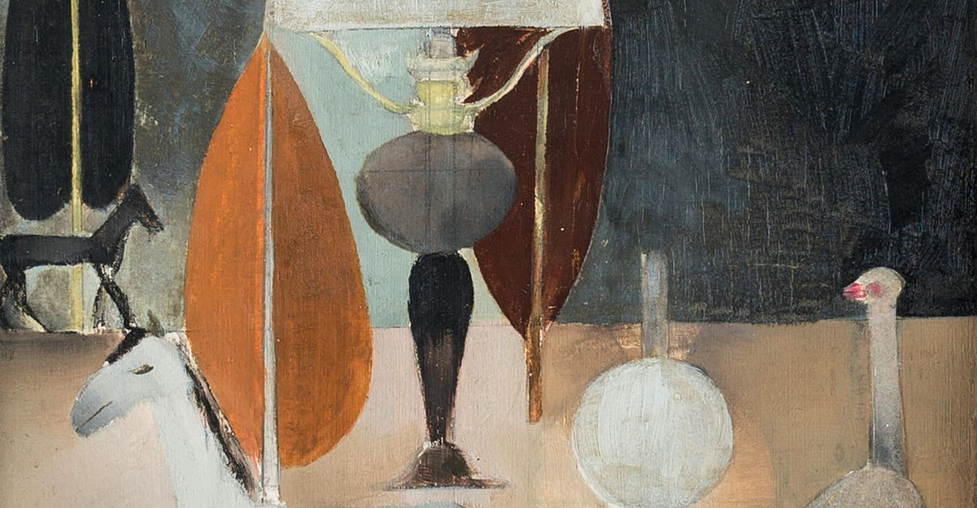 Stillleben mit Lampe und Tieren | 1921