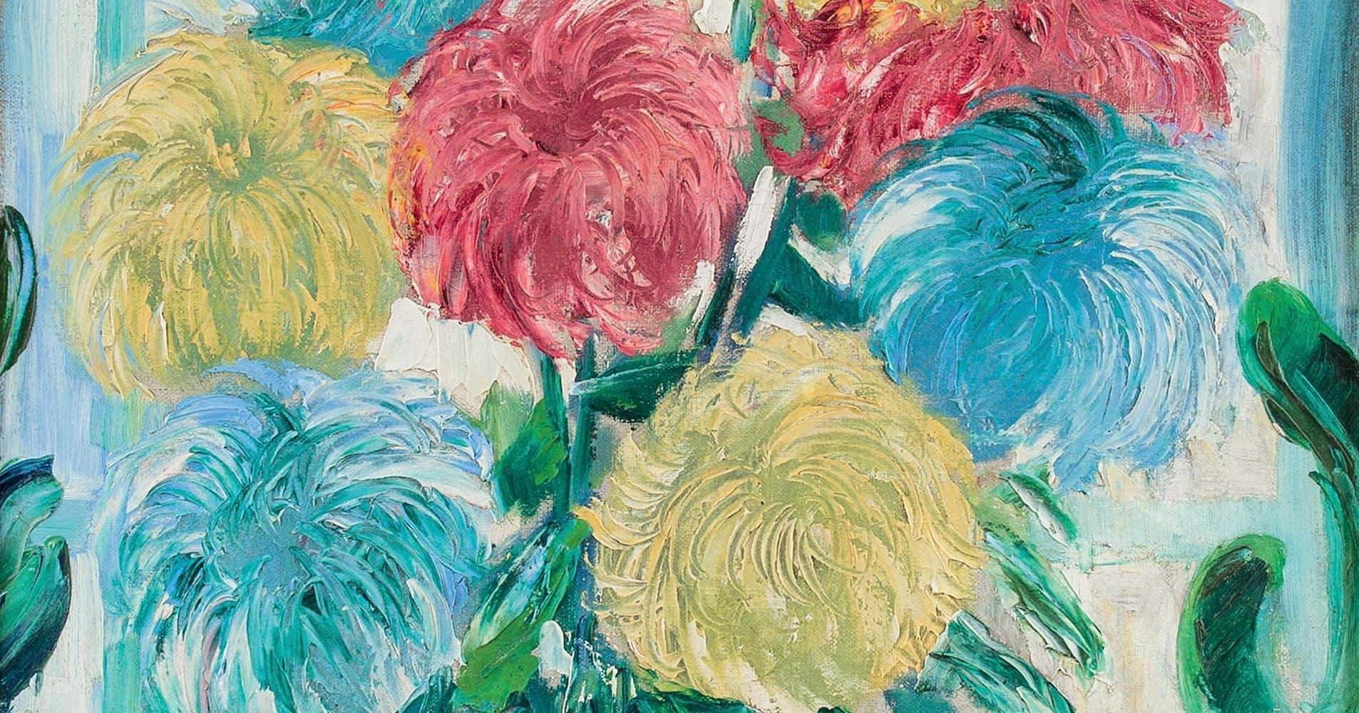 Chrysanthemen auf der Fensterbank | 1916