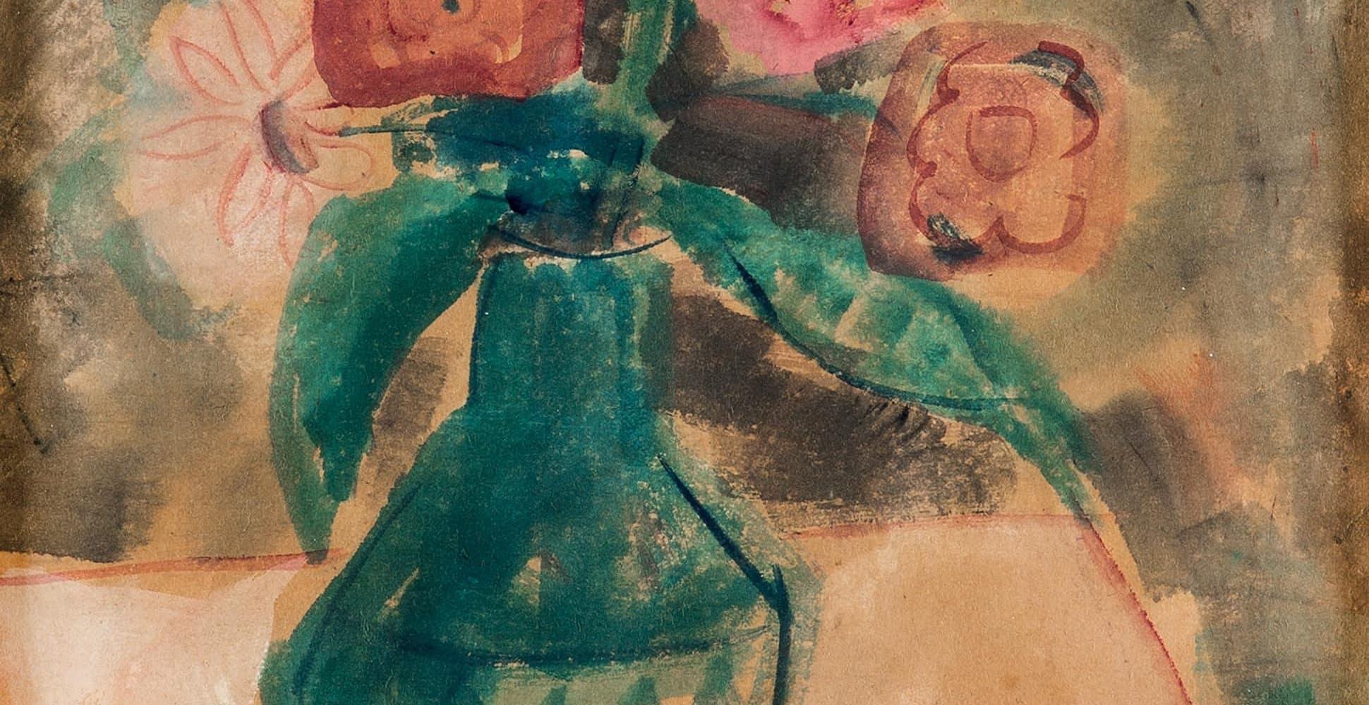 Blumen in einer bemalten Vase | 1938