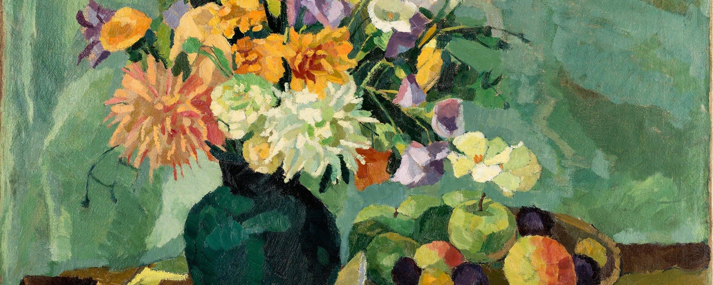 Blumenstillleben mit Obstschale | 1927