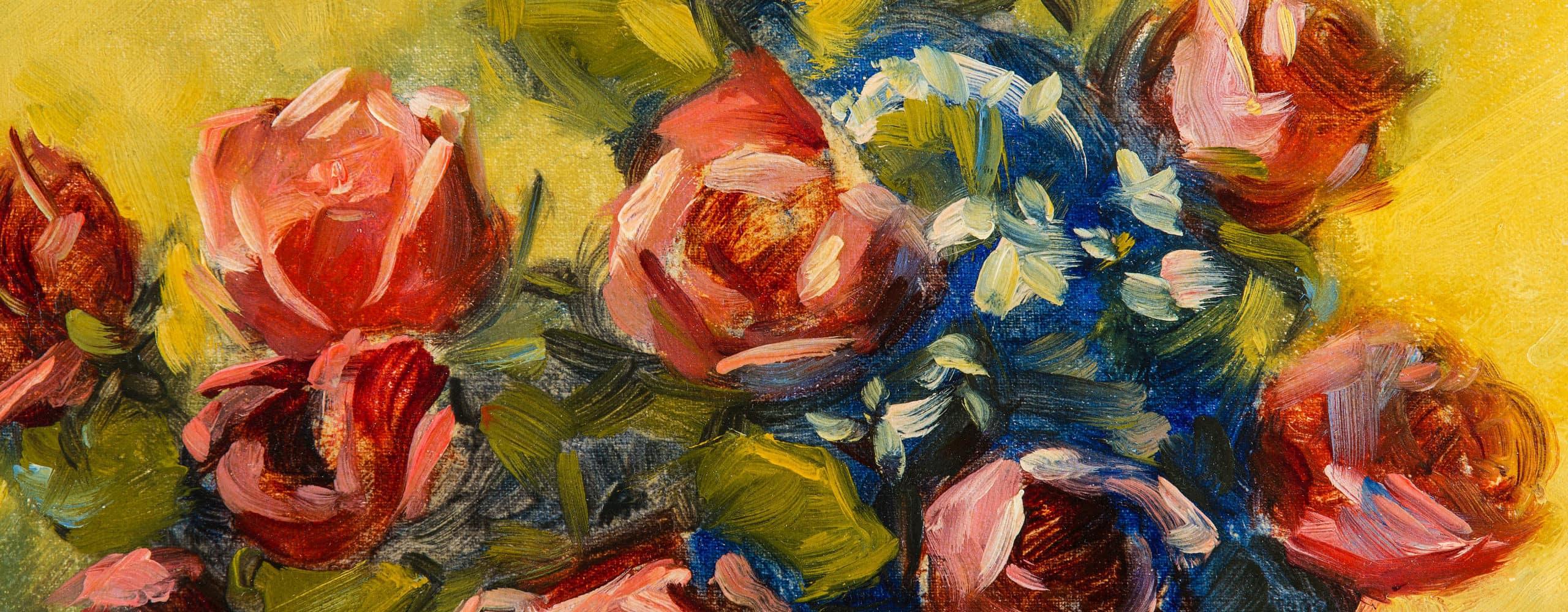 Stillleben mit Rosen und Äpfeln   1922