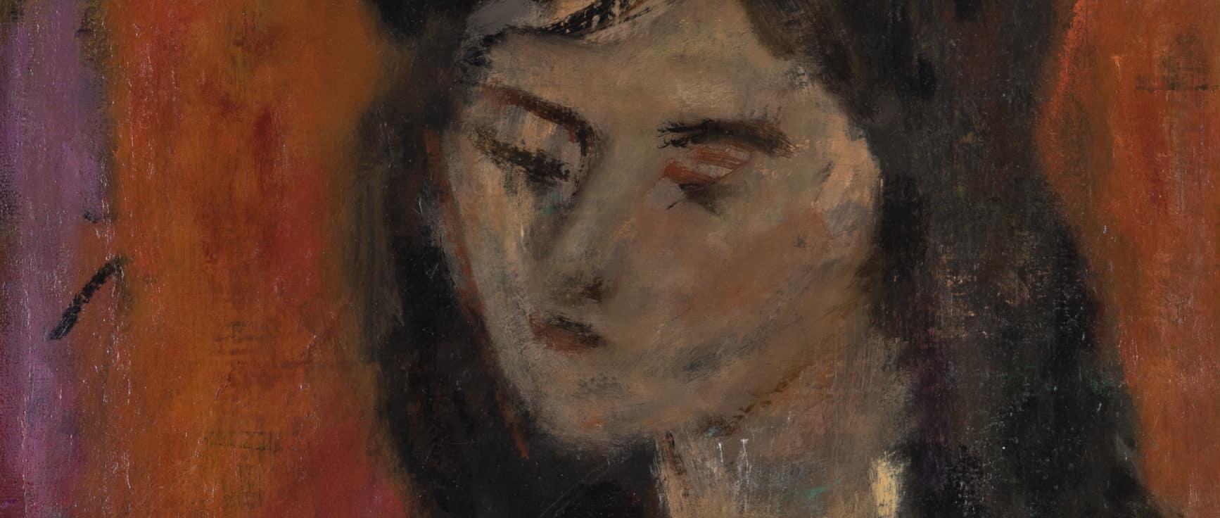 Damenporträt im gepunkteten Kleid | o. D.