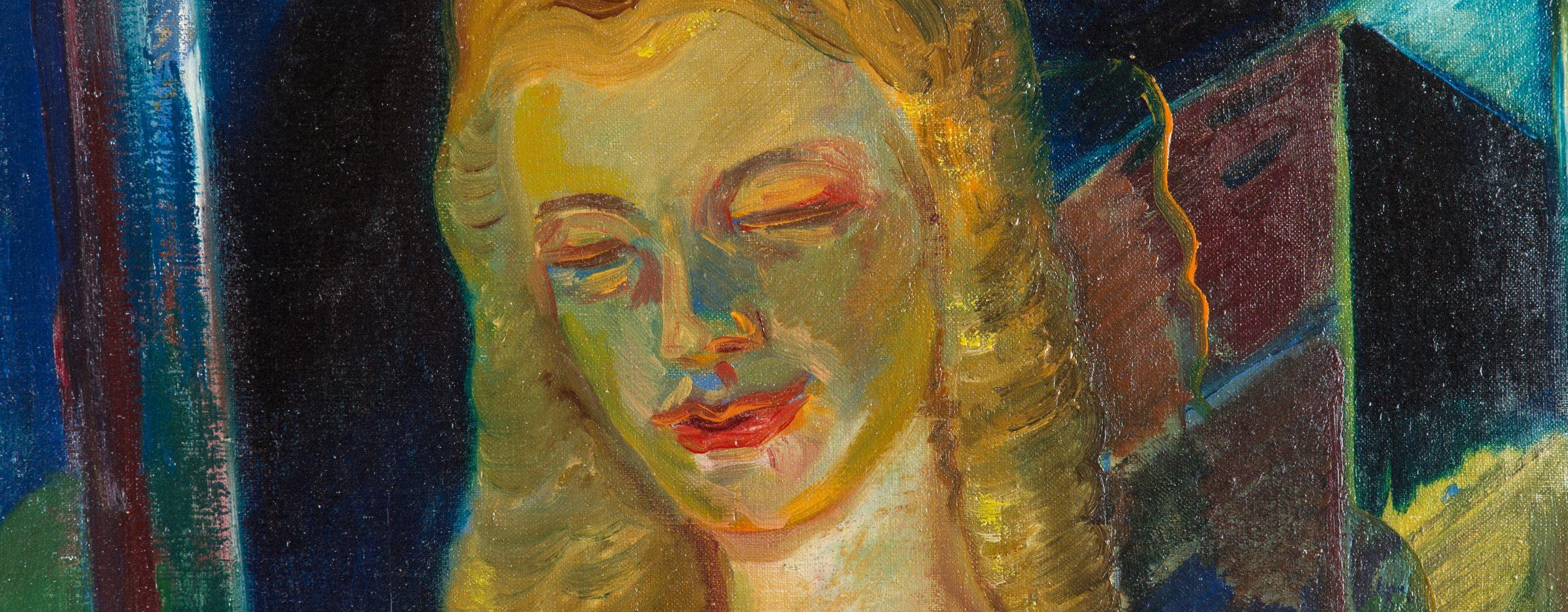 Halbakt einer jungen blonden Dame | 1930