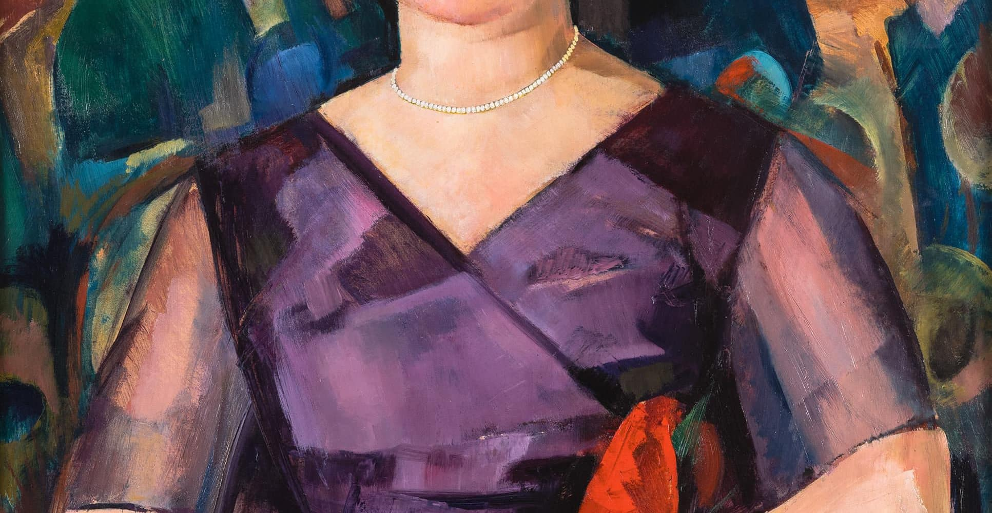 Dame mit Perlenkette | 1920